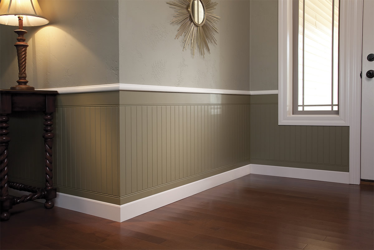 Painted Wood Paneling Walls The Image