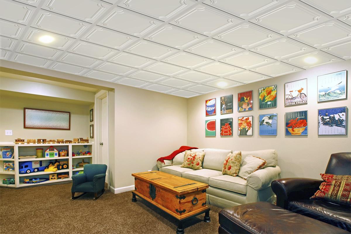 Tuiles plafond suspendu 24 x 24 cosmopolitan murdesign for Tuile de plafond suspendu
