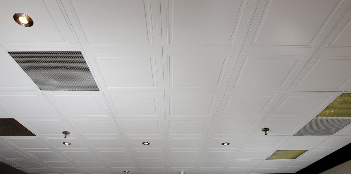 tuiles plafond suspendu quatro 24 x 48 desert murdesign. Black Bedroom Furniture Sets. Home Design Ideas