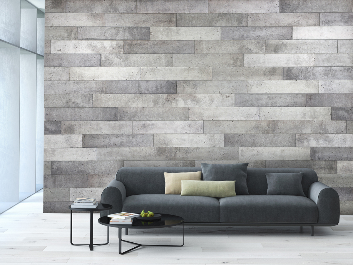 Wall decoration duo concrete panels murdesign - Decoration mur salon ...