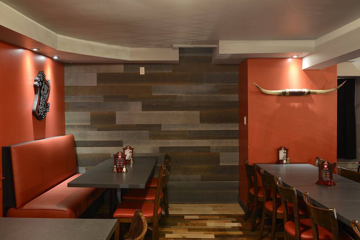 Inspiration restaurant rustique chic murdesign for Restaurant salle a manger