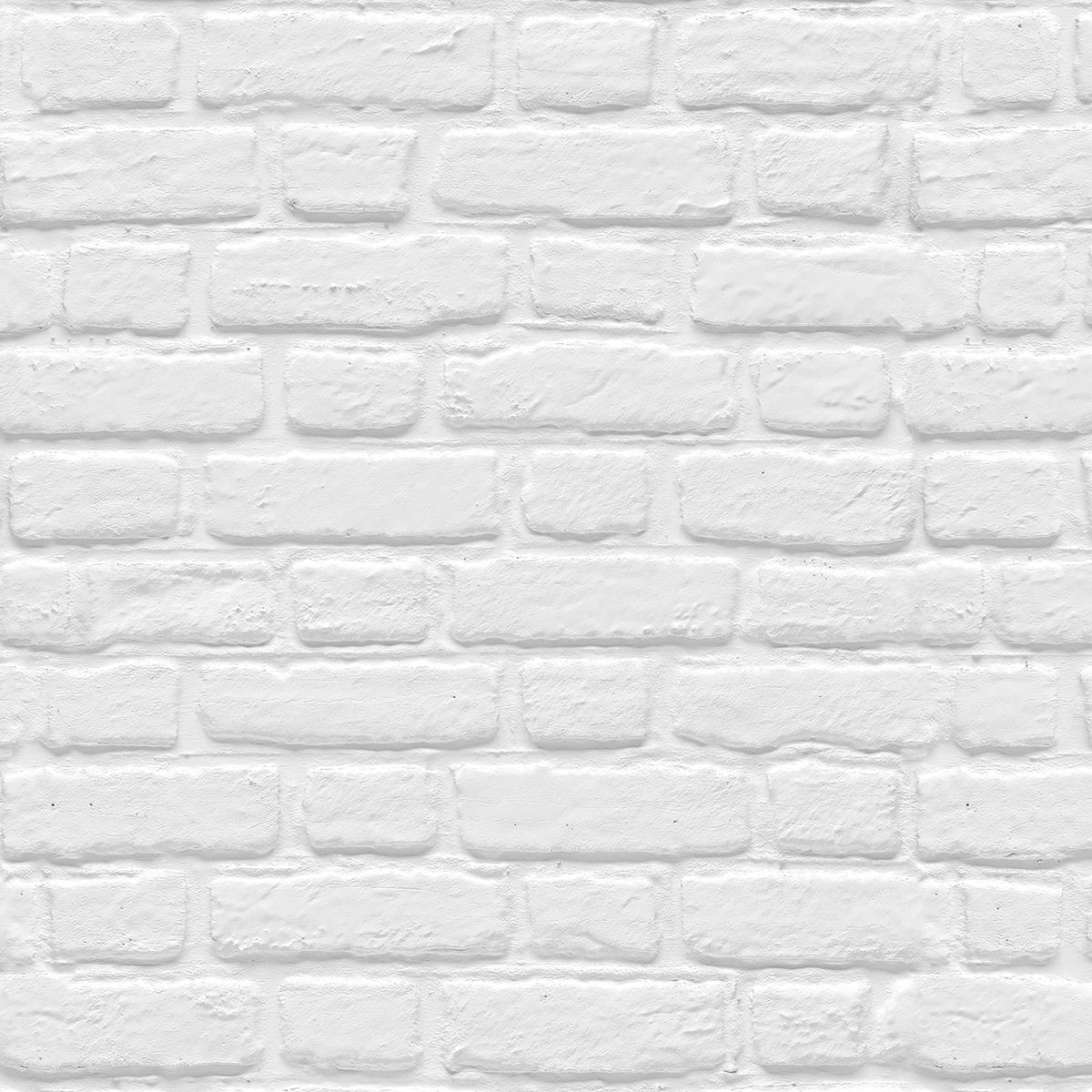 Mur Effet Brique Blanche brick caruso   murdesign